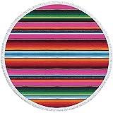 NHhuai Natación Playa Camping Absorbente Viaje Toallas de Mano Ducha Toallas de Mano Círculo Creativo de patrón de Color