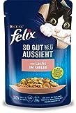 FELIX Katzennassfutter So gut wie es aussieht in Gelee mit Lachs 24x 85 g