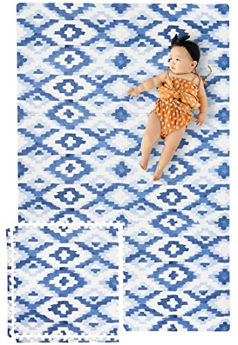 Great Deal! Yay Mats Stylish Extra Large Baby Play Mat. Soft, Thick, Non-Toxic Foam Covers 6 ft x 4 ...