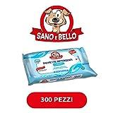 Bayer Salviette per cani e gatti Multipack 300 pezzi (6x50 pezzi) Talco