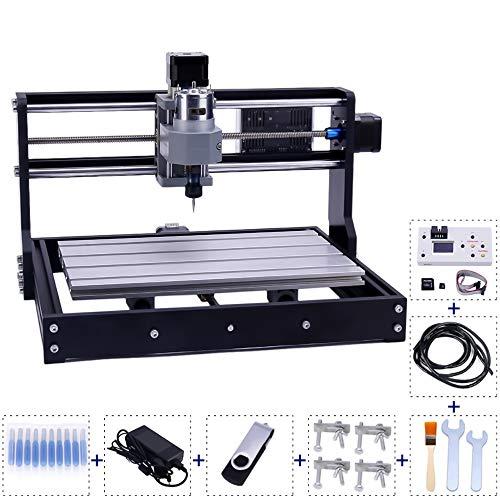 Dual-DEe CNC 3018-PRO Fräser-Kit, Kunststoff-Acryl-Leiterplatte PVC Holzschnitzerei Fräsmaschine, GRBL Control 3-Achsen