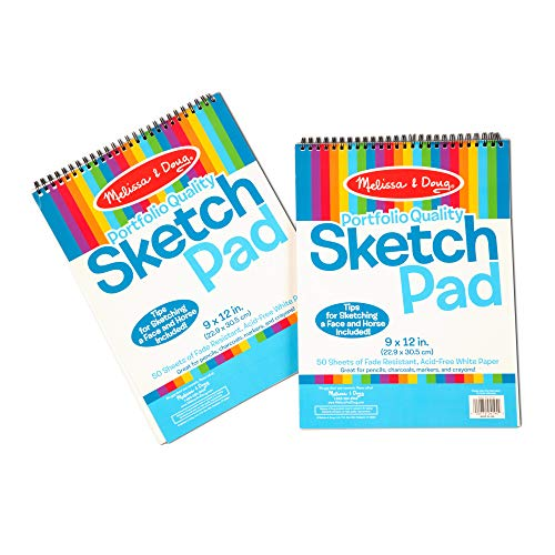 Melissa & Doug Sketch Pad (9 x 12 inches) - 50 Sheets, 2-Pack