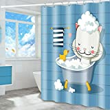 CXL Badezimmer-Duschvorhang Polyester, verdickter wasserdichter & schimmelresistenter Duschvorhang, hygienischer Trennvorhang