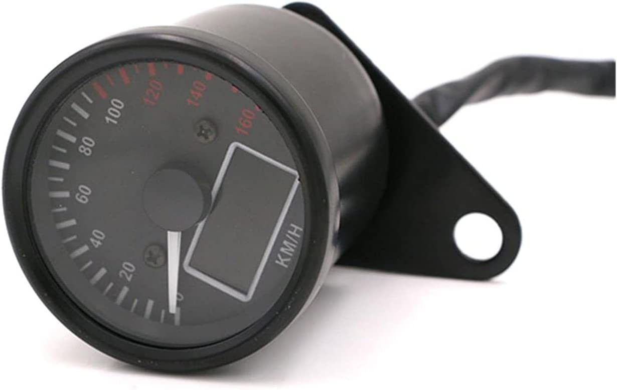 Iinger 2.6in Motorcycle Black Silver Digital KM Max 66% OFF LCD LED Speedo H Sacramento Mall