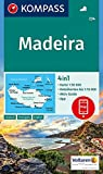 KOMPASS Wanderkarte Madeira: 4in1 Wanderkarte 1:50000 mit Aktiv Guide und Detailkarten inklusive Karte zur offline Verwendung in der KOMPASS-App. (KOMPASS-Wanderkarten, Band 234)
