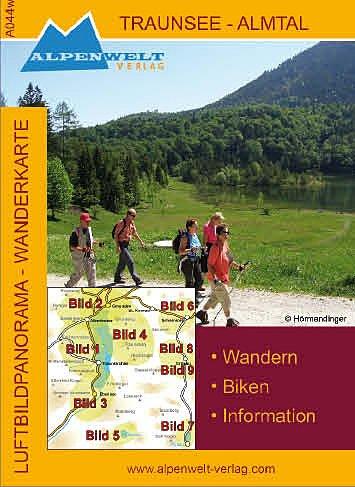 Preisvergleich Produktbild Alpenwelt Karte,  Traunsee Almtal