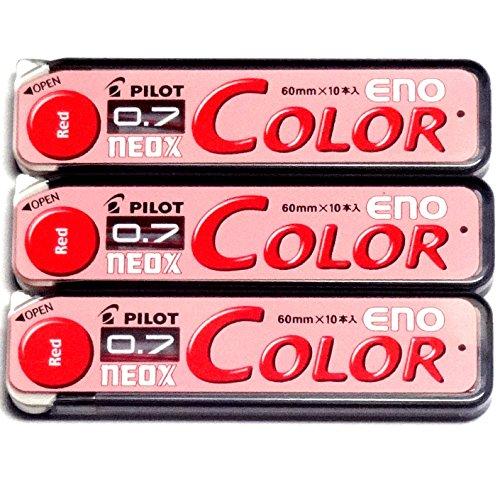 Pilot Color Mechanical Pencil Lead Eno, 0.7mm, Red, 10 Leads ×3 Pack/total 30 Leads (Japan Import) [Komainu-Dou Original Package]