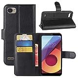 PANGTOU pour LG Q6 Litchi Texture Horizontal Flip Cuir Coating avec Porte-Carte et Portefeuille et...