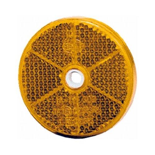 HELLA 8RA 002 014-251 Rückstrahler - gelb - geschraubt