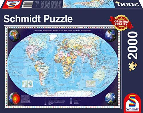Schmidt Spiele 57041 Unsere Welt, 2000 Teile Puzzle, bunt