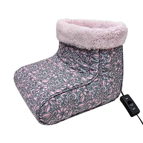 Thermee - Calentador de pies (Franela), diseño Floral, Color Rosa