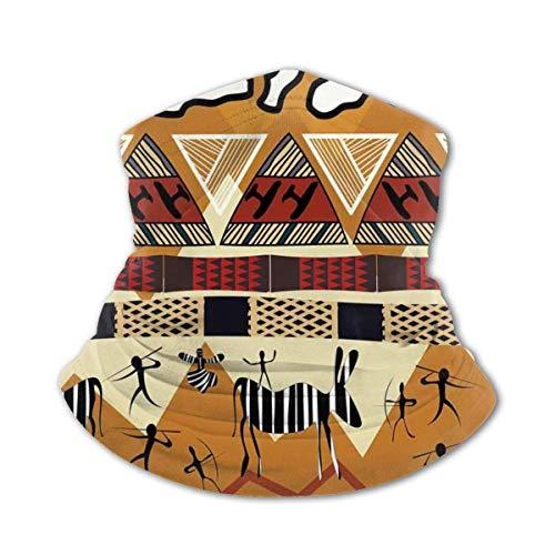 Verctor Kindergesichtsabdeckung Ethnische Stammes-Ethnische Art Jagd Zebra Illustration Prähistorisches Stammesleben Thema Bilddruck Ruby Senf Gesichtsmaske