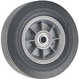 Titan 8 Inch Overall Diameter Flat Proof Replacement Wheel 300 lb Load Capacity, Gray/Black