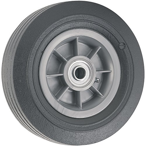 SoftTouch 4138755 Flat Proof Replacement Wheel 300 lb Load Capacity For Use on Wagons, Carts and Many Other Products, 8, Black