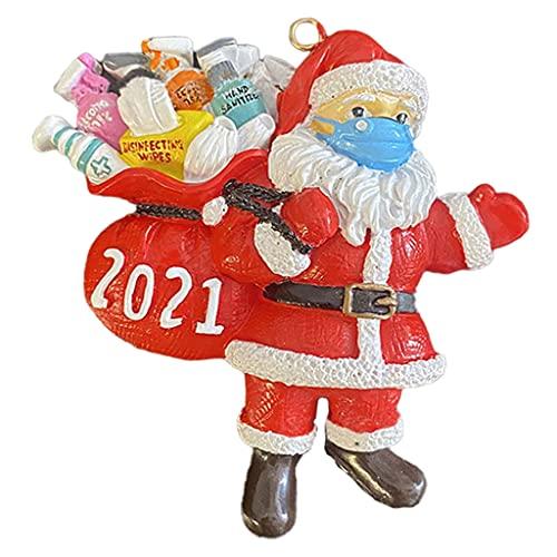 perfeclan Ornamenti di Babbo Natale, Maschera per Il Viso da Indossare da Babbo Natale - Stile 1