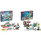 LEGO Friends - Barco de Rescate Nuevo Juguete de construcción de Aventuras Acuáticas + Misión de Rescate: Delfines Nuevo Set de construcción de Juguete de Barco Hundido y Robot Submarino