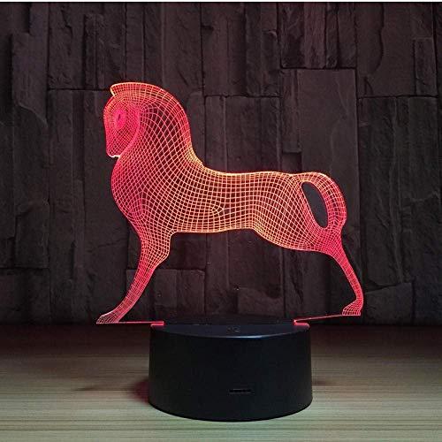 Veilleuse Mood Lights Mignon Coloré Poney Cheval Jouets Mon Petit Poney 3D Illusion Veilleuse Acrylique Veilleuse Bébé Enfants Sommeil Lampe