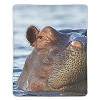 デザインマウスパッド 抗菌 カバ野生動物カバ水かわいい