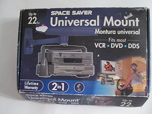 Sale!! Space Saver 2in1 Universal Mount 22lbs VCR/DVD/DDS Fits All Space Saver Brackets