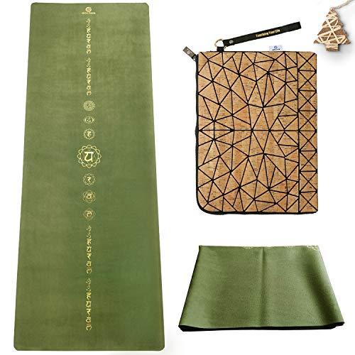GOLDEN® yogamatta resor 1,5 mm naturgummi, halkfri, föroreningsfri, vikbar, tunn, lätt med...