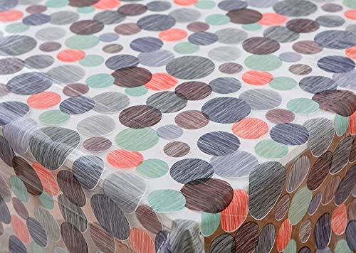 Vinylla pois facile da pulire vinile trasparente tovaglia, 140 x 240 cm