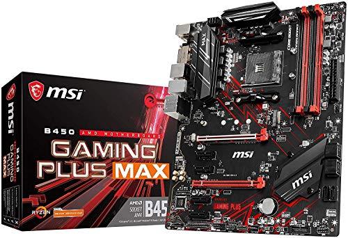 MSI Performance Gaming AMD Ryzen 2ND and 3rd Gen AM4 M.2 USB 3 DDR4 DVI HDMI Crossfire ATX Motherboard (B450 Gaming Plus Max) (Renewed)