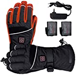 ELEKHEAL Rechargeable Battery Heated Gloves for Men Women Outdoor Indoor Electric Hand Warmer Glove for Motorcycle Skiing Hunting Cycling Winter Thermal Heated Gloves (Black, M)