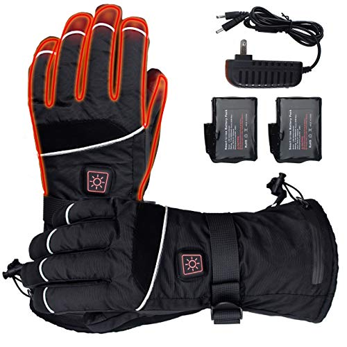 ELEKHEAL Rechargeable Battery Heated Gloves for Men Women Outdoor Indoor Electric Hand Warmer Glove...