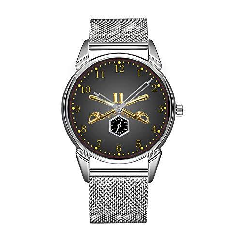 Orologio da uomo alla moda, in acciaio inox, impermeabile, di alta qualità, orologio da uomo 47th inf. 9. Div. CIB ATC orologio