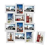 SONGMICS Marco de Fotos Collage para 12 Fotos de 10 x 15 cm + 1 x Marco de Foto Individual, para...
