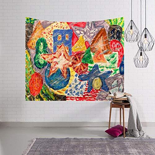 Tapiz de graffiti para colgar en la pared, varios estilos psicodélicos, abstractos, tapices de tela