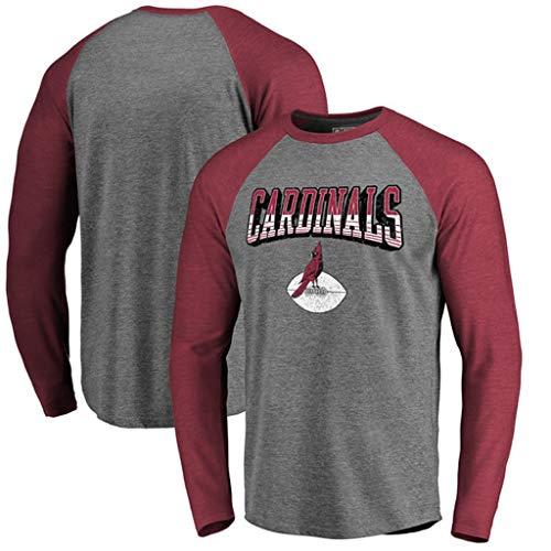 YUNMO Rugby Trainingsanzug Freizeit T-Shirt Arizona Cardinals Sweatshirt Langarm (Size : XXL)