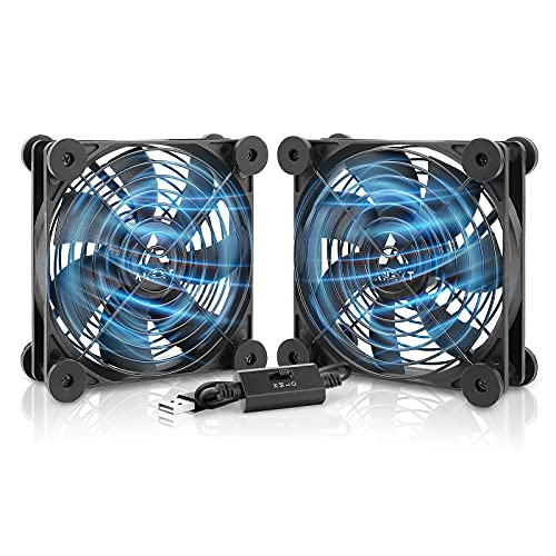 ANEXT, 120mm USB Fan, 120mm Fan, Silent Fan for Receiver DVR Playstation Xbox Computer Cabinet...