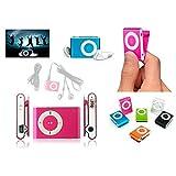 DISOK - Mp3 Player Clip + Auriculares + Cable USB En Caja - Reproductores MP3 Baratos Originales. Detalles, Regalos Y Recuerdos para Comuniones, Bodas y Bautizos niños y Adultos