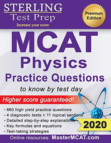 Price comparison product image Sterling Test Prep MCAT Physics Practice Questions: High Yield MCAT Physics Practice Questions with Detailed Explanations
