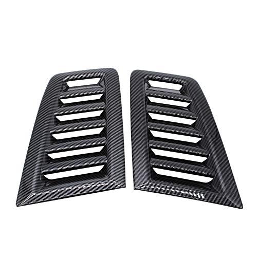 GoolRC 1 par de Recambio Negro Brillante de Plástico ABS de Ventilación de Capó para Ford Focus RS MK2 2004-2015