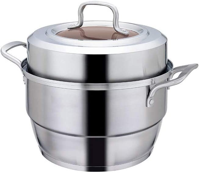 Steaming Pot Stainless Steel Pasta With Tempered Steamer Jacksonville Max 55% OFF Mall Set Gla