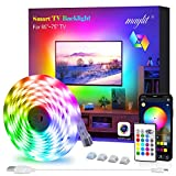 Led Strip Lights, Maylit Tv Led Backlight 14.3ft for 65-75in Tv Bluetooth Control Sync to Music, USB Bias Lighting Tv Led Lights Kit with Remote - RGB 5050 LEDs Color Lights for Room Bedroom