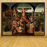Puzzle 1000 piezas Obra de arte vintage extraño retrato pintura pintura decorativa puzzle 1000 piezas adultos Juego de habilidad para toda la familia, colorido juego de ubicac50x75cm(20x30inch)