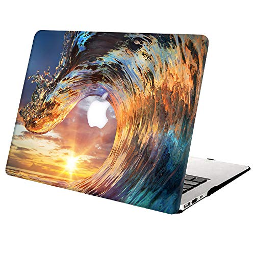 Hard Case Compatible with MacBook Pro Retina 15 inch (Model: A1398,Release 2015 - end 2012), AJYX Plastic Hard Shell Cover for Older Version MacBook Pro 15 with Retina Display - Wave