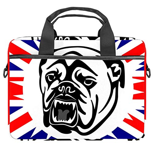 Lightweight 15 inch Laptop Bag ,Business Messenger Briefcases Waterproof Computer Tablet Shoulder Bag Carrying Case Handbag for Men and WomenDog Bulldog England Flag