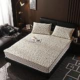 XGguo Protector de colchón - Protector de colchón antialérgico Sábana más Gruesa de una Sola Pieza antideslizante-18_120 × 200cm