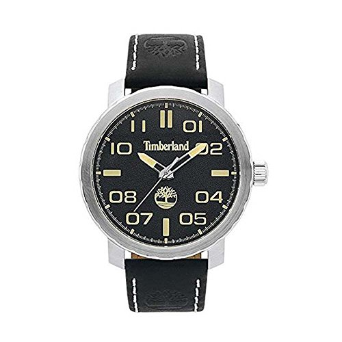 Timberland Herren Datum klassisch Quarz Uhr mit Leder Armband TBL.15377JS/02