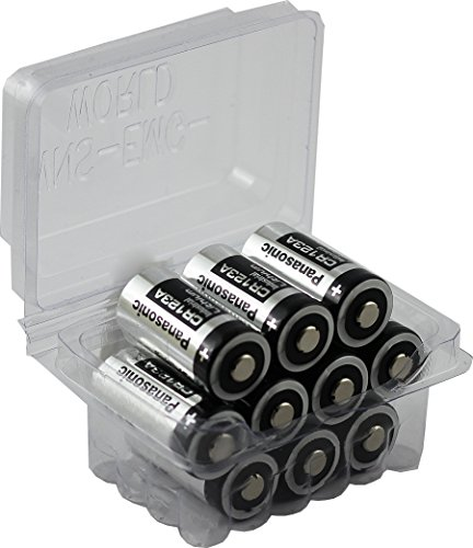 wns-emg-world Big Box Pack Panasonic CR123A CR 123A Photo Foto Lithium Batterie, 10 Stück