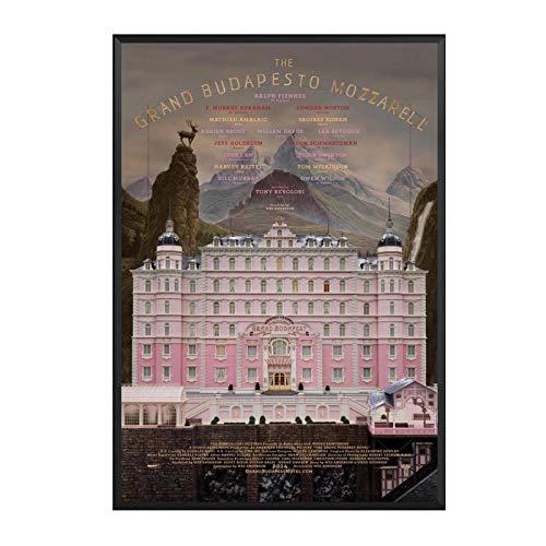 ADNHWAN Impresión de Carteles artísticos en Lienzo de The Grand Hotel Budapest para decoración de Sala de Estar de Pared del hogar-50x70cm sin Marco 1 Uds