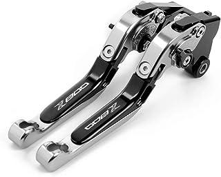 2012 Noir JFG RACING CNC Court r/églable de Frein dembrayage leviers pour Kawasaki Z800//E Version 2013 2007 Not Z750s Model 2016//Z750/