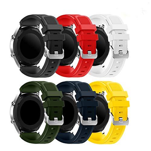 YaYuu Gear S3 Frontier/Classic Correa de Reloj, Reemplazo de Banda de Silicona Suave Deportiva Pulsera de Repuesto para Samsung Gear S3 Frontier/S3 Classic/Moto 360 2nd Gen 46 mm Smart Watch