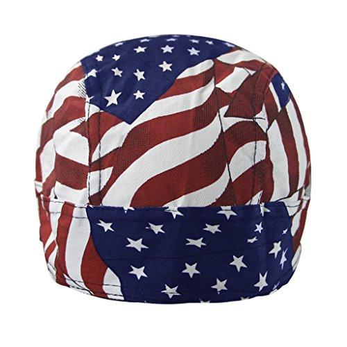 RUIXIB Bandana Cap Sports Kopfbedeckung Drucken Piratenmütze Street Dance Mütze Unisex Outdoor Fahrrad Kopftuch Atmungsaktive Baumwolle Kopftuch reiten für Herren Damen - 6