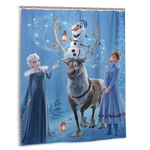 yongxing Anime Cartoon Frozen Duschvorhang wasserdicht ohne Verformung Qui Trocknen Badezimmer Duschvorhänge