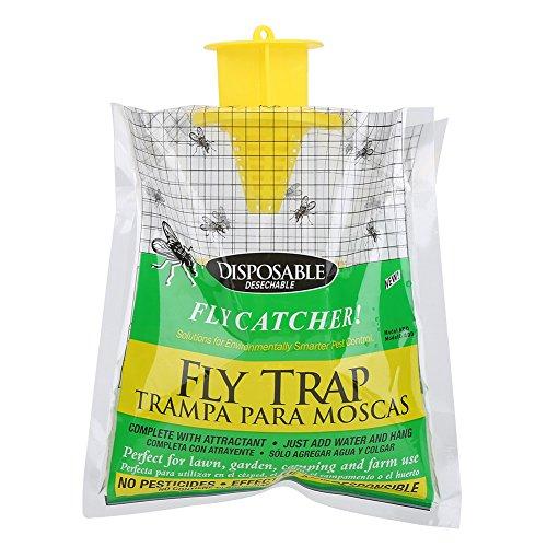 Attrapeur jetable de mouche, sac extérieur non-toxique de piège de mouche de délivrance attrape des mouches, ajoutez juste le coup de l'eau